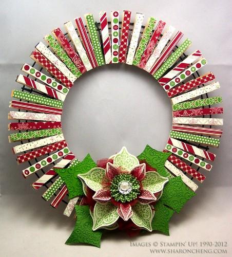 creative-diy-colorful-christmas-wreath-with-lotus-