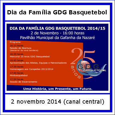 Dia Familia GDG Basquetebol - 2 novembro - Canal C