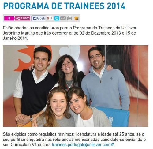 Programa de Trainees | UNILEVER | 2014