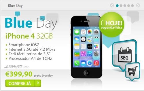 Blue Day | TMN |, IPhone 4 32Gb, só hoje