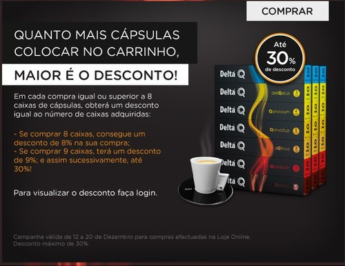 Até 30% desconto   DELTAQ   em compras Online, de 12 a 20 dezembro