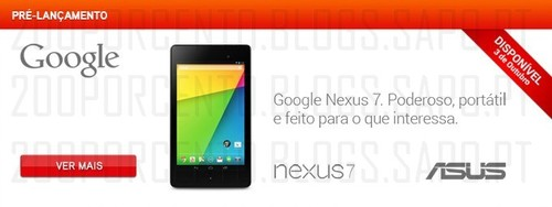lançamento google nexus na worten
