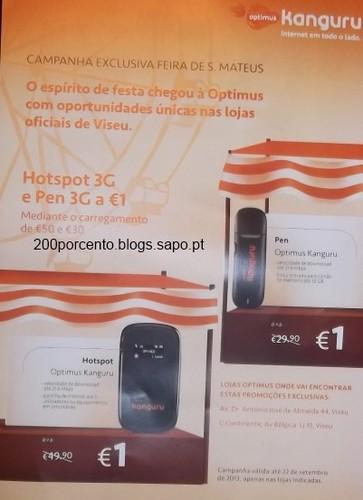 Pen e Hotspot a 1€ - Optimus - Viseu