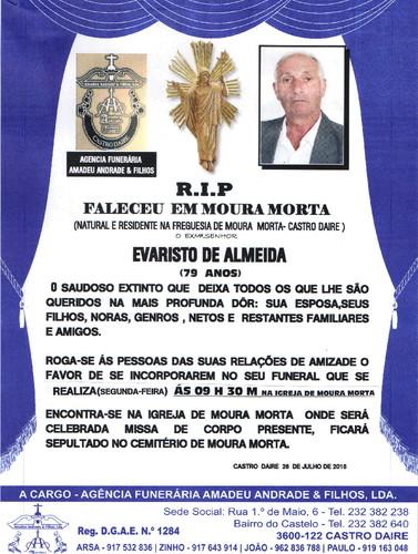RIP DE EVARISTO DE ALMEIDA -79 ANOS (MOURA MORTA)