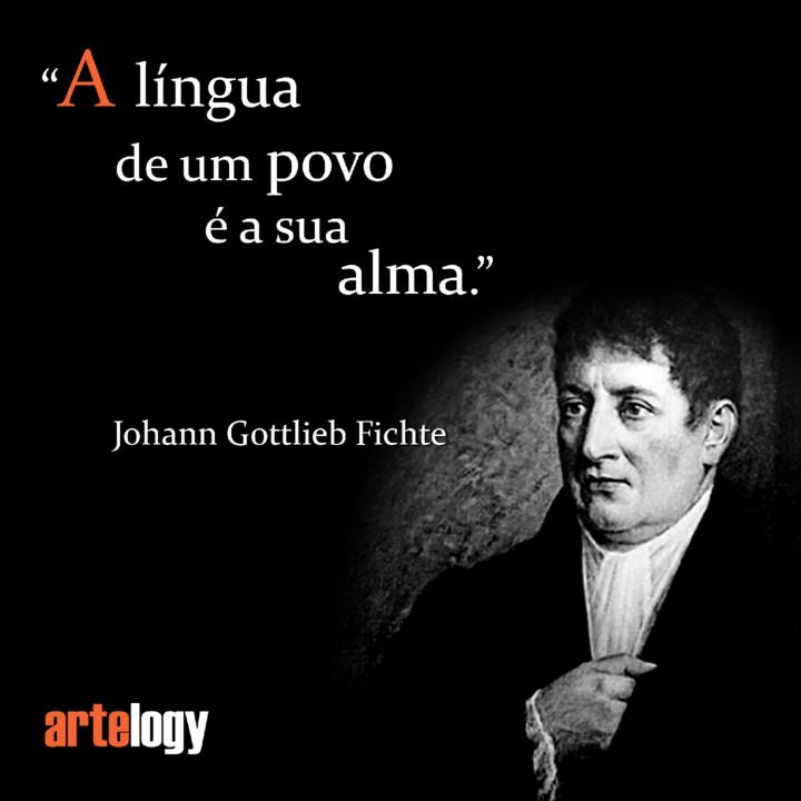 Meme de Johann Gottlieb Fichte -A língua de um p