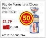 Super-Preço   CONTINENTE   Pão de Forma, Bimbo, até 28 outubro