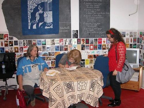 Zica Caldeira Cabral, a autora  e Graça Vaz