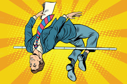 Businessman-High-Jump-Pop-Art-Retro-Style-Illustra