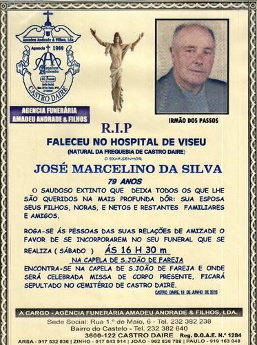 RIP- DE JOSE MARCELINO DA SILVA 79 ANOS FAREJA CAS