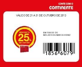 75% de desconto | CONTINENTE | Heinz