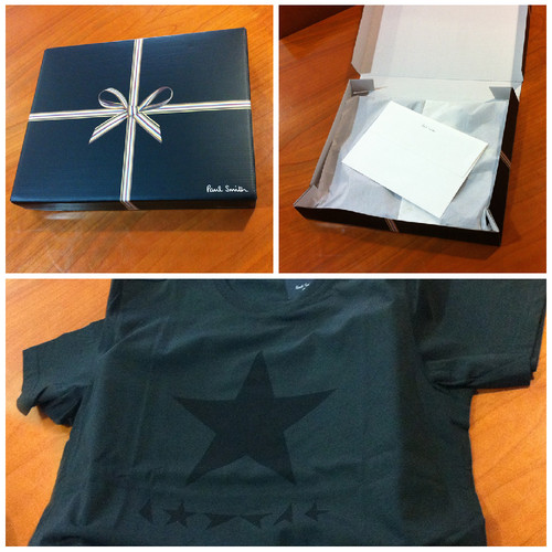 T-shirt Black Star by Paul Smith