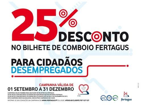25% de desconto | FERTAGUS | até 31 dezembro