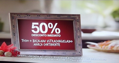 50% desconto direto | CONTINENTE | Bacalhau ultracongelado