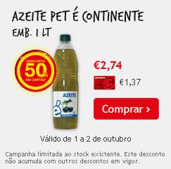 azeite com 50% desconto no continente