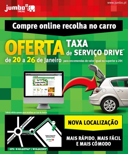 Oferta taxa de serviço Drive | JUMBO | Aveiro