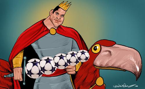 Rei Artur traz paz às redes da águia