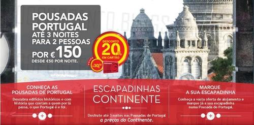 20% de desconto | CONTINENTE | Pousadas de Portugal