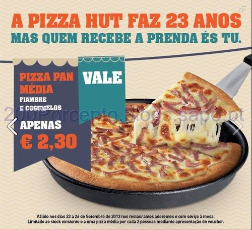 Pizza Hut faz anos