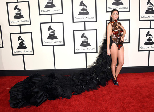 Bleona+Qereti+57th+GRAMMY+Awards+Arrivals+buFLNeXR