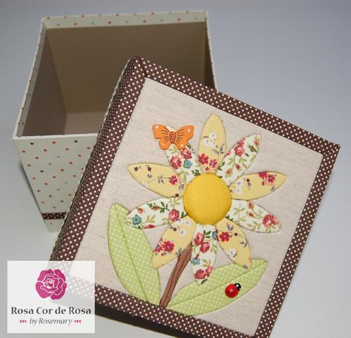 caixa patchwork embutido