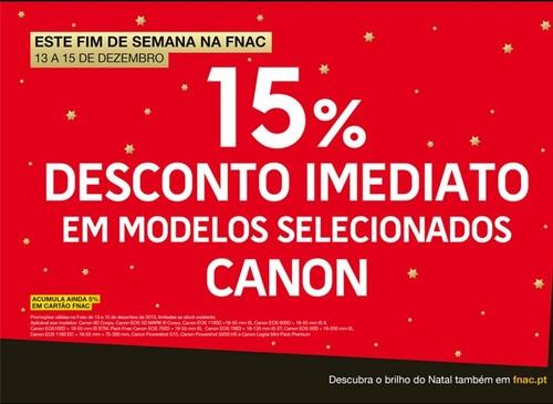 15% de desconto imediato | FNAC | dias 14 a 16 dezembro