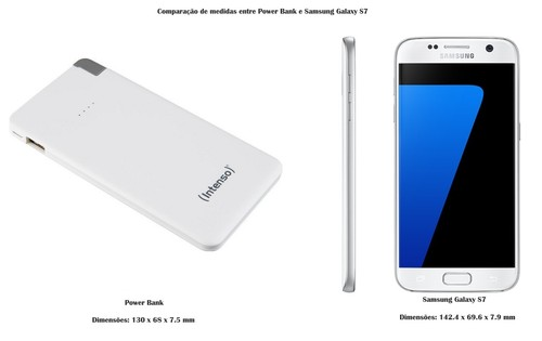 POWER BANK 5000 SLIM -003-VS Medidas SAMSUNG GX S7