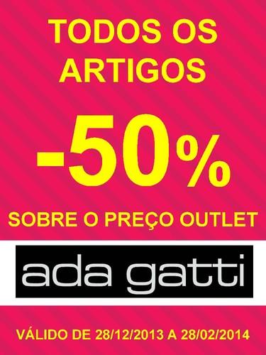 50% sobre preço Outlet | FREEPORT | Ada Gatti até 28 fevereiro