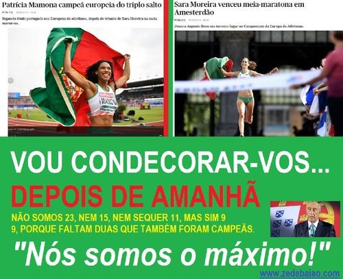 Sara Moreira - meia maratona -e Patrícia Mamona -