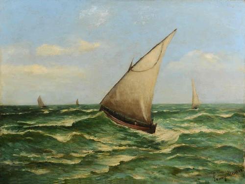 Fanny Munró, Saveiro [?] (Óleo s tela 48 x 63 cm, 189...)