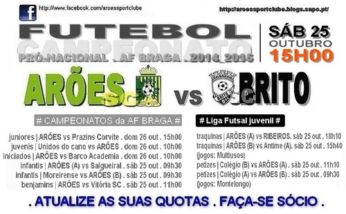 cartaz arões x BRITO 25 OUT 2014.jpg