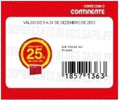 Acumulação 25% + Vale + Cupão CTT | CONTINENTE | duracell, apenas a 9 dezembro