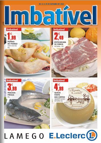 Antevisão E-leclerc, Novo Folheto Lamego, de 15 a 20 Outubro