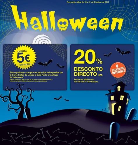 5€ ou 20% direto   EL CORTE INGLÉS   Halloween