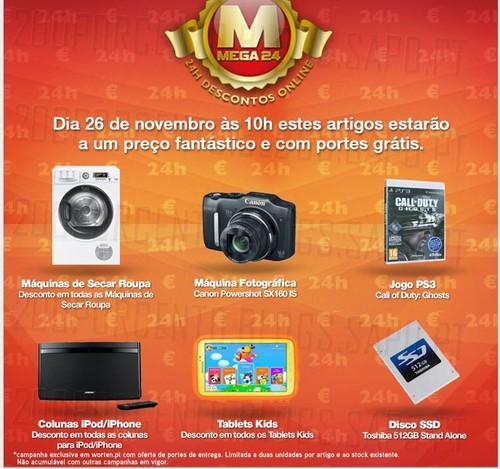 Mega24 | WORTEN | amanhã 26 novembro