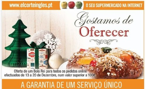 Oferta de Bolo Rei | EL CORTE INGLÉS | em encomendas Online