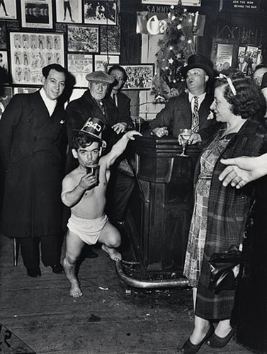 New Year's Eve at Sammy's-on -the-Bowery, 1943. -