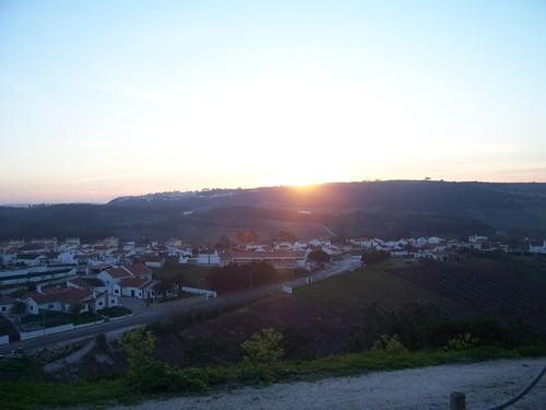 Pôr do sol em Óbidos