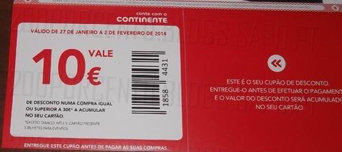 Cupões de 10€ | CONTINENTE | a serem distribuídos pelas caixas do correio !!