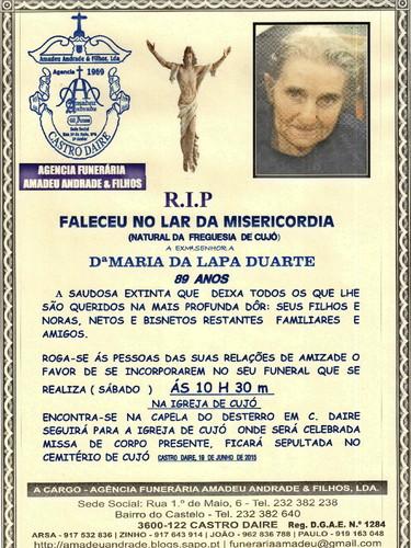 RIP- DE MARIA DA LAPA DUARTE-89 ANOS (CUJÓ) 001.j