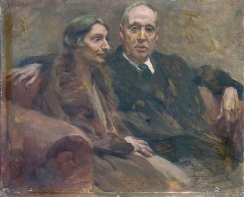 Casal Angelina e Raúl Brandão, óleo de Columban
