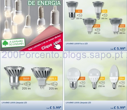 Poupar energia com Lâmpadas LED