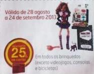Cupão Continente Magazine Brinquedos 25%