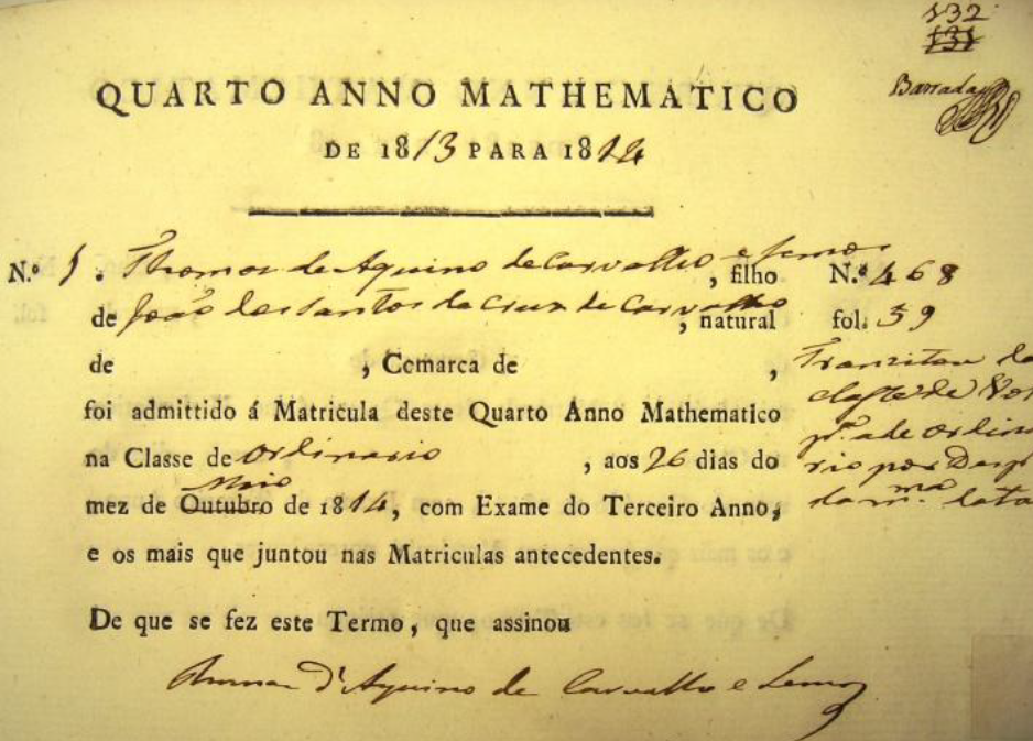 Livro de Matrículas, Vol.41 (1813-1814), fl.132.p