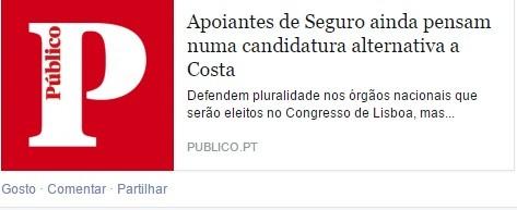 PS apoiantes de Seguro pensam em candidatura alter