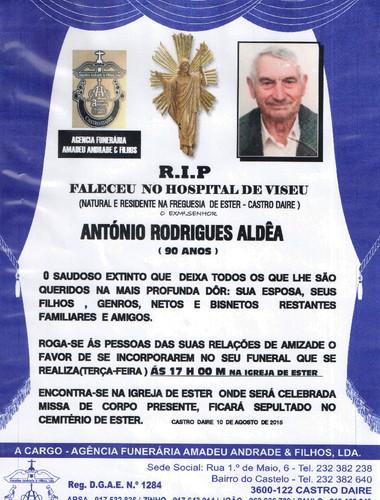 RIP- DE ANTONIO RODRIGUES ALDÊA-90 ANOS (ESTER).j