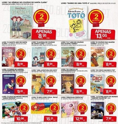 Acumulação 2€ + Cupão   CONTINENTE   Livros, apenas dia 9 dezembro