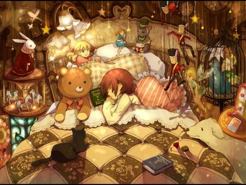 room-childhood-disorder-bedding-toys-child-girl-an