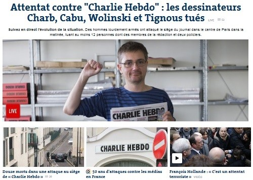 França atentado a jornal Charlie Hebdo 7Jan2015 a