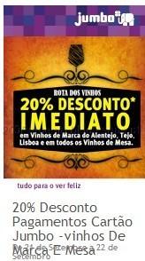 20% Imediato em Vinhos Selecionados