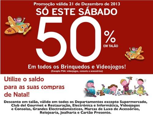 Desconto de 50%   EL CORTE INGLÉS   Brinquedos e Videojogos, Apenas Hoje 21 dezembro